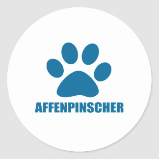AFFENPINSCHER DOG DESIGNS CLASSIC ROUND STICKER