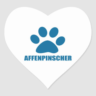 AFFENPINSCHER DOG DESIGNS HEART STICKER