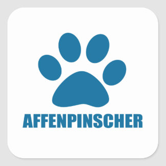 AFFENPINSCHER DOG DESIGNS SQUARE STICKER