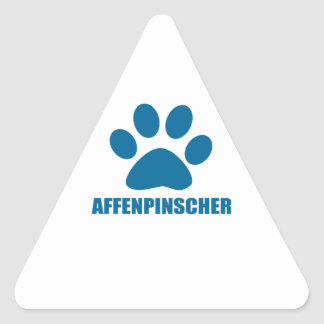 AFFENPINSCHER DOG DESIGNS TRIANGLE STICKER