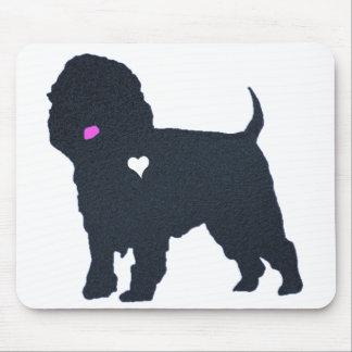 affenpinscher dog silhouette heart colorful art mouse pad