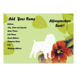 Affenpinscher Green Leaves Design Business Card Template