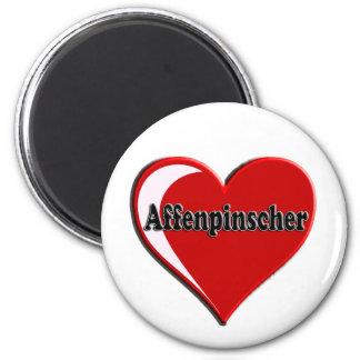 Affenpinscher Heart Magnet