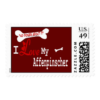 Affenpinscher I Love My Postage