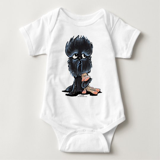 Affenpinscher Monkey Toy Baby Bodysuit