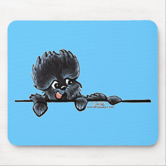 Affenpinscher Over the Line Mouse Pad