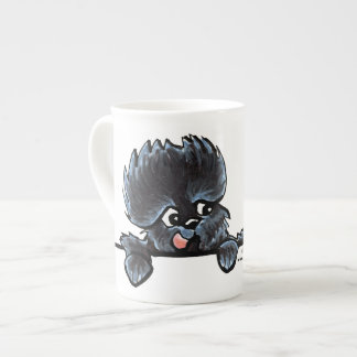 Affenpinscher Over the Line Tea Cup