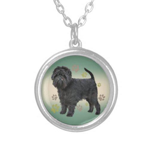 Affenpinscher Paws Print  Necklace