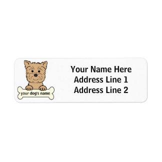 Affenpinscher personalizado etiqueta de remite