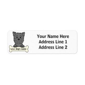 Affenpinscher personalizado etiqueta de remitente