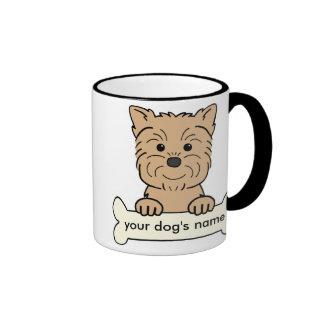 Affenpinscher personalizado taza de dos colores