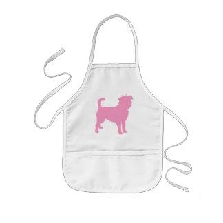 Affenpinscher (pink) kids' apron