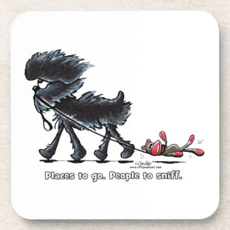 Affenpinscher Places to Go Drink Coaster