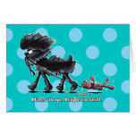 Affenpinscher Places to Go Greeting Card