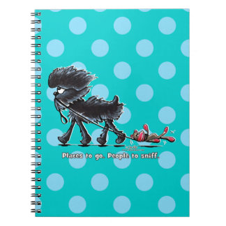 Affenpinscher Places to Go Spiral Notebook