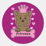 Affenpinscher Princess Classic Round Sticker