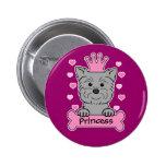 Affenpinscher Princess Pinback Buttons