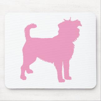Affenpinscher (rosa) alfombrillas de ratones