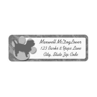 Affenpinscher Silhouette Return Address Label