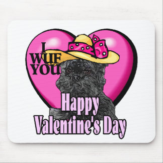 Affenpinscher Valentines Day Mouse Pad