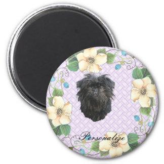 Affenpinscher Violet Floral Magnet