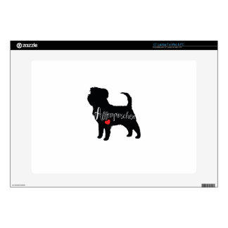 """Affenpinscher with Heart Dog Breed Puppy Love Decals For 15"""" Laptops"""