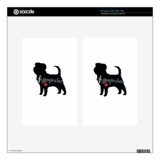 Affenpinscher with Heart Dog Breed Puppy Love Kindle Fire Skins