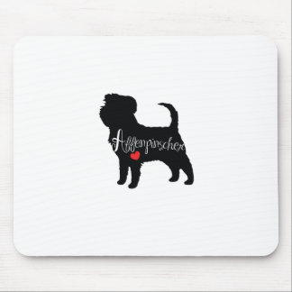 Affenpinscher with Heart Dog Breed Puppy Love Mouse Pad