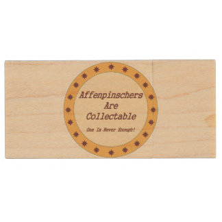 Affenpinschers Are Collectable Wood USB 2.0 Flash Drive