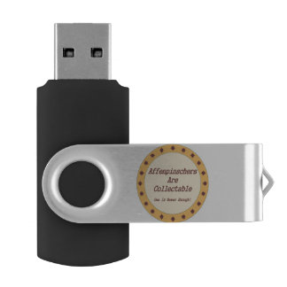 Affenpinschers Are Collectable Swivel USB 2.0 Flash Drive