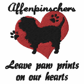 Affenpinschers Leave Paw Prints Embroidered Shirt
