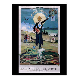 Affiche Absinthe Postcard