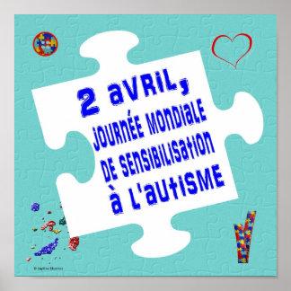 Affiche journée mondiale de sensibilisation poster