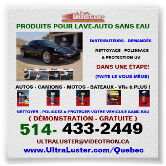 Affiche Pour Produits UltraLuster Pour Lave Auto Poster