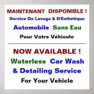 Affiche Pour Service De Lave Auto Poster