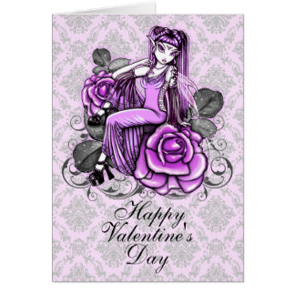 """""""Affinity""""  Pink Valentines Day Rose Fae Card"""