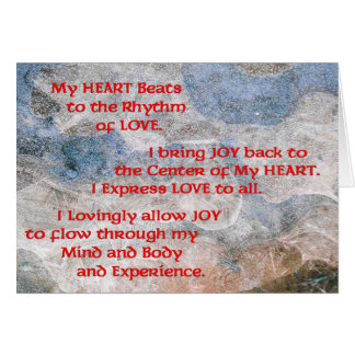 Affirmation Card for the Healing of the Heart