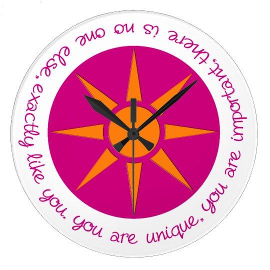 Affirmation clock You are unique, important