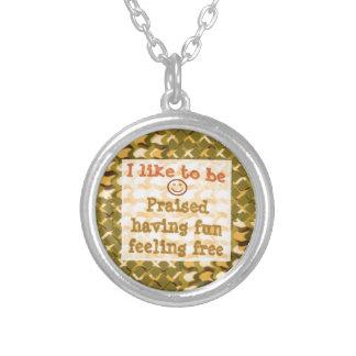 Affirmation STATEMENTS: Praise FUN Free - LOWPRICE Custom Necklace