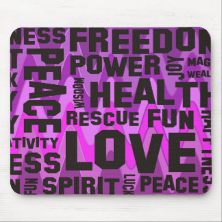 affirmations black - sinus pink mouse pad