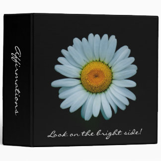 "Affirmations - Bright Daisy (2"") 3 Ring Binder"