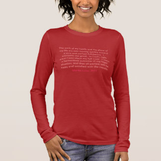 Affirmations for Life - In God We Trust Long Sleeve T-Shirt