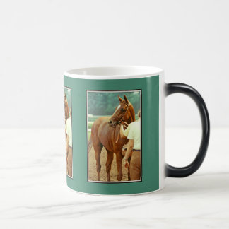 Affirmed Thoroughbred Racehorse 1978 11 Oz Magic Heat Color-Changing Coffee Mug