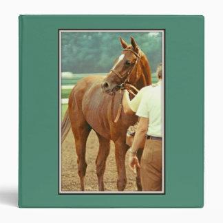 Affirmed Thoroughbred Racehorse 1978 3 Ring Binder