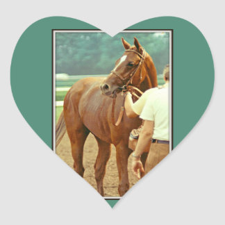 Affirmed Thoroughbred Racehorse 1978 Heart Sticker