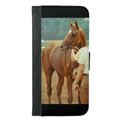 Affirmed Thoroughbred Racehorse 1978 iPhone 6/6S Plus Wallet Case
