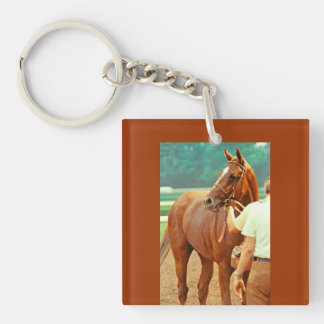 Affirmed Thoroughbred Racehorse 1978 Keychain