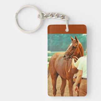 Affirmed Thoroughbred Racehorse 1978 Single-Sided Rectangular Acrylic Keychain