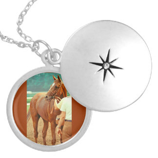 Affirmed Thoroughbred Racehorse 1978 Locket Necklace