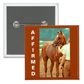Affirmed Thoroughbred Racehorse 1978 Pinback Button